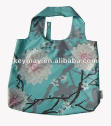 Promotional Multicolor Quality Foldable Nylon Supermarket Shopping Bag