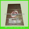 HDPE / LDPE claro pan plano de plástico / pastel de autoproducción de alimentos embalaje adhesivo bolsa bloqueada para panadería