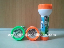 2012 sell well led plastic flashlight in Africa South Africa