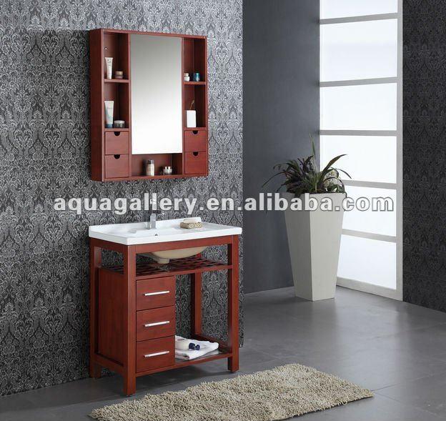 Gabinetes para ba o modernos for Gabinetes de madera para bano
