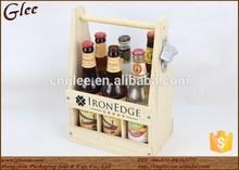 Wooden wine carrier