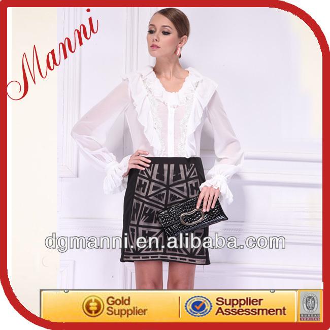 Novo estilo de design chffion blusas roupas da moda para as mulheres 2013