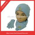 Bambini 100% acrilico a maglia carina cappello sciarpa e guanti set
