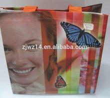 2015 cheap fashion laminated pp woven bag/pp woven shopping bag/pp woven tote bag