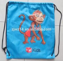 2015 cheap fashion custom promotion fashion polyester drawstring bags/backpack