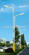 double brackets street pole with sodium lamp