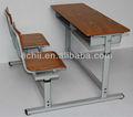 Escritorio y silla de escuela/Escritorio y silla de alta calidad muebles para universidad/muebles económicos para escuela
