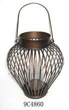 antique metal candle lantern