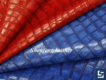 2014 Fashion Crocodile leather new design pu synthetic leather fabric for woman bags handbags leather material