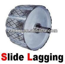 weld-on rubber slide lagging for belt conveyor