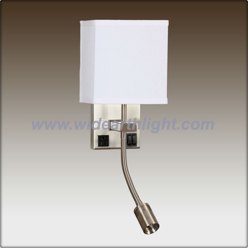 Bedside Hotel Wall Light/power Outlet Wall Sconce With Led Reading Lamp And Ul List W20156 - Buy ...