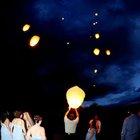 Oridinal Air balloon paper lanterns in the sky