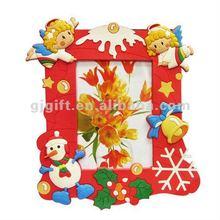 2014 promotional soft pvc beautiful Christmas photo frames