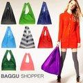 moda cores de doces saco de compras dobrável