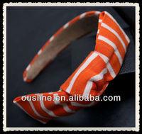 Korean brief stripe knitting wool bow headband,vintage striped bow hairband