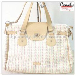 2014 new tote and shoulder polyester travelling bag fashion handbag fake designer handbags