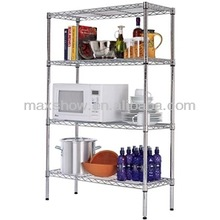 Adjustable chrome home storage metal shelving