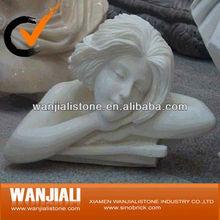Marbre quo/buste en marbre blanc stute/sculpture buste