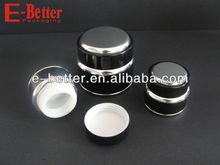 Series black 15g 30g 50g aluminum outside,glass inner jar