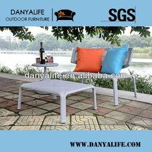 DYSF-D3102,Wicker Garden Patio Sofa Set,Rattan Outdoor Restaurant Sofa Chair with Tea/ Coffee Table,2 Seats Swimming Pool Sofa