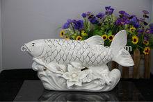2012 Style wholesale Gold Arowana ceramic chinese ceramic