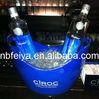 blue custom design beer ice buckets