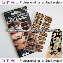 new nail art,metallic nail wrap,nail patch