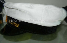 navy office white military hat warm and comfortable