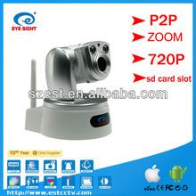 Hot selling HD zoom wireless IP camera wifi P2P ip camera pan tilt