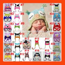 Hot Sale Winter Wool Handmade Crochet Owl Baby Hat