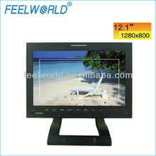12 inch ultra high resolution LCD monitor with SDI for broadcast and camera