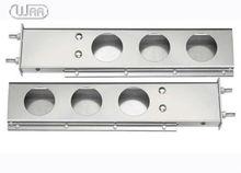Heavy duty truck Chrome Stainless steel spring-loaded 2 piece light bar
