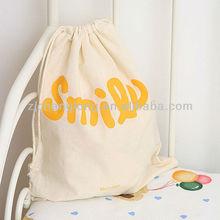 Fashion canvas drawstring bag