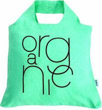 light green organic cotton bag