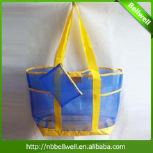 2014 Shoulder Mesh PVC Beach Bag