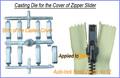 Döküm kapak için otomatik- kilit metal fermuar kaydırıcı