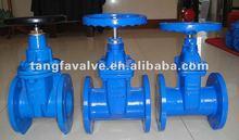 ductile iron flange type resilent non rising stem gate valve