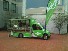 Greenland electric Food car,Moveing food shop,2-seat