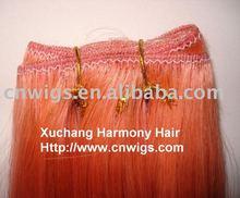 Heat resisting synthetic hair weaving