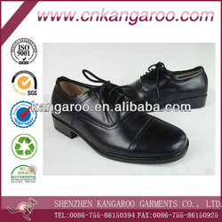 Men&#39;s leather shoes with rubber bottom for business man