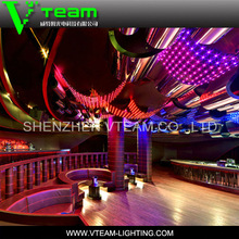 Vteam artistry Round LED mesh screen Video wall for ceiling decoration