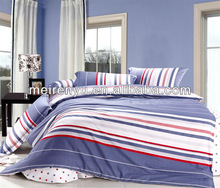 2015 embroidery home duvet cover set eyelet fabric cover bed western style stripes bedding