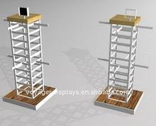 Metal rack for clothes displays