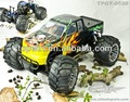 1:5 26cc 4wd off - road rc monster truck gasolina