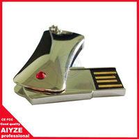 Wholesale metal mini swivel usb flash 8gb