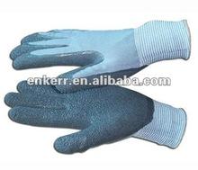 CE latex nylon glove crinkle coating work gloves