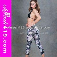 Short floral women leggings tight pants fashion 2014