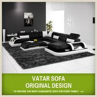 Elegant Meubles Italian Couch Leather modern sofa H2213
