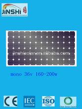 monocrystalline 190w solar energy cell panel for solar power system TUV IEC CE Certified