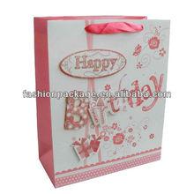 2013 luxury birthday paper bag with best price